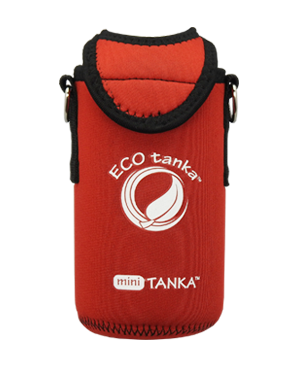 ECOtanka mini 600ml kooler cover Red front