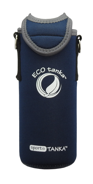 ECOtanka sports 800ml kooler cover dark blue front