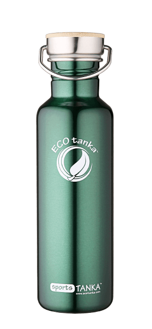 ECOtanka sportstanka with stainless steel bamboo lid Green