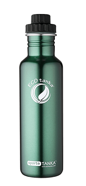 ECOtanka sportstanka with screwtop lid Green