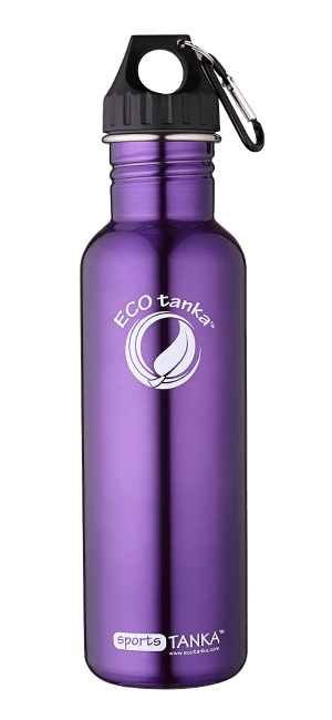 ECOtanka sportstanka with poly loop lid Purple