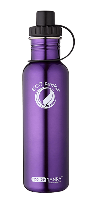 ECOtanka sportstanka with sports lid Purple