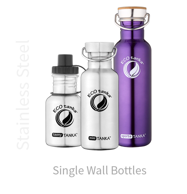 ECOtanka stainless steel single wall bottles